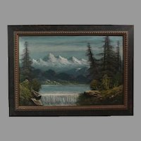 Luther Olanski oil on cardboard Pacific NW landscape (ART10044)