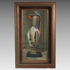 "Dusso ""Urn"" oil on board - Painter featured in movies & TV shows Leon D'Usseau (ART10025)"