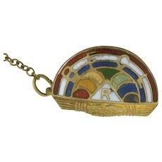 Vintage 10K BFCL Int'l Order Of Rainbow Girls 2-part Enameled Lapel Pin