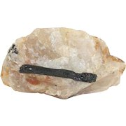 Large Raw Natural Gemstone of Tourmaline and Quartz TCW 3,034.5