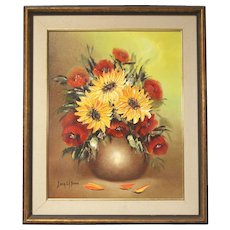 "Sonia Gil Torres ""Sunflowers"" oil on canvas flower painting (ART10014)"