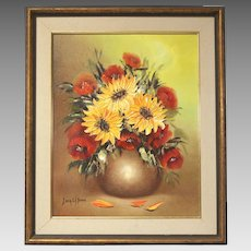 "50% OFF SALE: Sonia Gil Torres ""Sunflowers"" oil on canvas flower painting (ART10014)"