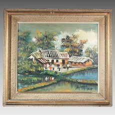 50% OFF SALE: JerShion village oil on canvas ART10004