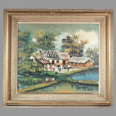 JerShion village oil on canvas ART10004