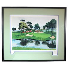 WOW REDUCED! Mark King Numbered Serigraph Myrtle Beach Dunes Golf ART10003