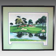50% OFF SALE:  Mark King Numbered Serigraph Myrtle Beach Dunes Golf ART10003