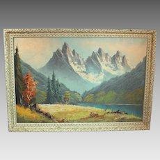 Hans Nador Landscape Oil on Canvas Painting mid-century - contemporary of Ansel Adams (ART10020)