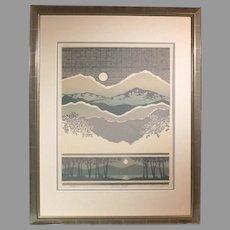 "C. Newhardt ""Sierra Vista"" 1983 limited edition lithograph 295/950 (ART10058)"