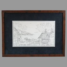 "Terry Redlin 2001 ""Sunset Retreat"" lithograph pencil sketch (ART10054)"