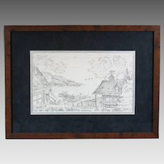 "50% OFF SALE: Terry Redlin 2001 ""Sunset Retreat"" lithograph pencil sketch (ART10054)"
