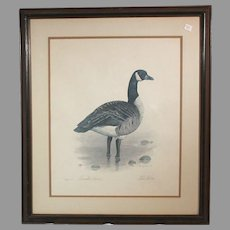"Robert White ""Canadian Goose"" 1977 lithograph 247/1500 (ART10047)"
