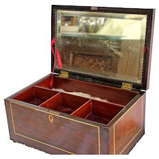 Ebony Jewelry Box with Key (converted from Tea Caddy) England c1914