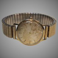 Vintage Men's Wittnauer Round Face Watch Personal Gift engraved to Ken from BS Quarterback Club 1962!