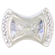 Cubic Zirconia Cocktail Bow Tie Ring Sterling Silver