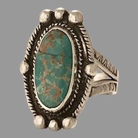 Beautiful Sterling Silver and Turquoise Ring (SS10282)