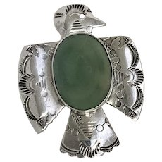 Intricate bird-shaped Navajo Sterling Silver Pin (SS10286)
