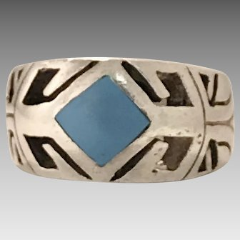 Robust Man's Native American Sterling Silver Ring (SS10287)
