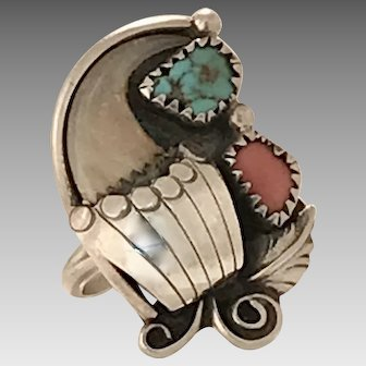 Unique and Natural 1940's Native American Ring (SS10289)