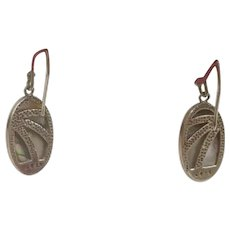30% Off Intro Special EXTENDED! Custom Made Designer Paua Shell and Sterling Silver Earrings (SS10314)