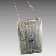 Circa 1921 JBE Co Sterling Silver Coin Purse (SS10318)