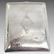 Vintage Havone Hammered Sterling Silver Cigarette Case NO MONOGRAM in Near-Mint Condition! (SS10358)
