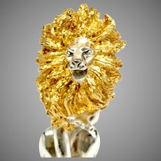 Franklin Mint Silver Circus Lion Circa 1978-Solid Sterling Silver (SS10376)