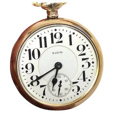 VALENTINE'S SALE 40% OFF: Railroad Grade Pocket Watch Elgin 19 Jewel 16s B.W. Raymond WAT10105