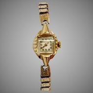 Bulova 17J Deco Style Wrist Watch  Circa 1953 (WAT10130)