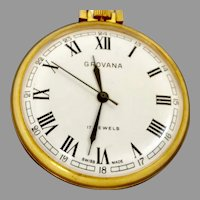 "Grovana Swiss 17 Jewel Pocket Watch 16s; ""Quality but inexpensive"" (WAT10139) Running and Accurate"