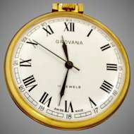 "Grovana Swiss 17 Jewel Pocket Watch 16s; ""Quality but inexpensive"" (WAT10139)"