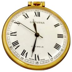 """Grovana Swiss 17 Jewel Pocket Watch 16s; """"Quality but inexpensive"""" (WAT10139) Running and Accurate on SALE NOW"""