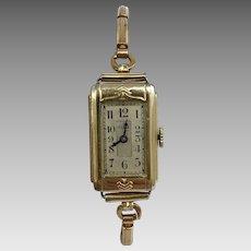 Circa 1937 Elgin Gold Filled Wrist Watch 18/0s 7 Jewel (WAT10172)