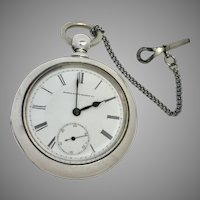 Just Reduced 1883 Coin Silver Elgin Pocket Watch 18S 7 Jewels (WAT10174)on sale thru 12-19-19