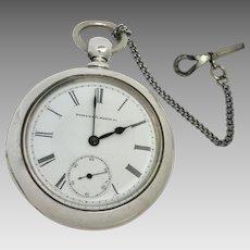 1883 Coin Silver Elgin Pocket Watch 18S 7 Jewels (WAT10174)