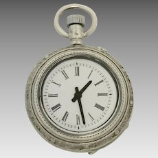 Vintage Silver Ladies Pocket Watch Combined with New Quartz (WAT10177)