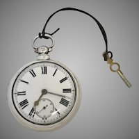 Just Reduced Circa 1824 English Sterling Silver Fusee 18S Pocket Watch (WAT10178)