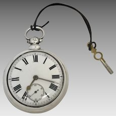 Circa 1824 English Sterling Silver Fusee 18S Pocket Watch (WAT10178)