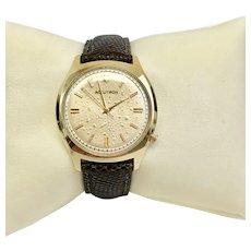 Solid 14Kt yellow gold Bulova Accutron Wrist Watch Vintage Near-Mint Condition  (WAT10182)