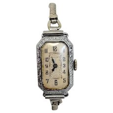 Estate Vintage Circa 1932 Bulova Ladies 15 Jewel 14 Karat Rolled Gold Plated Wrist Watch (WAT10191)