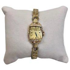 Estate Vintage Circa 1940 Ladies Elgin Deluxe 19 Jewel 10 Karat Gold Filled Wrist Watch (WAT10192)