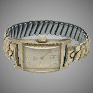 Vintage Elgin Mans 17 Jewel Art Deco Curvex Wrist Watch With Box Circa 1939 (WAT10196)