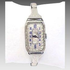 Antique Ladies Gold Filled Swiss Wrist Watch 17 Jewels Circa 1920's (WAT10206)