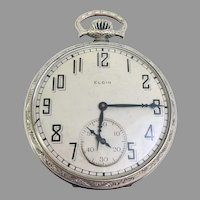 Vintage Estate Elgin Pocket Watch 7 Jewel, Size 12s Gold Filled Circa 1925 (WAT10208) on SALE thru 12-19-19