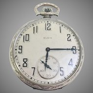 Vintage Estate Elgin Pocket Watch 7 Jewel, Size 12s Gold Filled Circa 1925 (WAT10208)