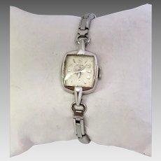 Vintage Estate Ladies Elgin Wrist Watch 19 Jewel, 10 Karat Rolled Gold Plated in Original Box Circa 1950s (WAT10216)