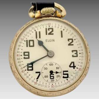 Vintage Estate Rolled Gold Plate Pocket Watch 16s, 17j Made in France Circa 1950's Very Scarce, Rare, Running & Accurate (WAT10221)