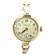 Antique Estate Ladies Wrist Watch 1908 Waltham Premier 9 jewels-One of the first wrist watch models(WAT10222)Running and Accurate