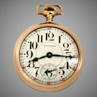 Special Waltham Pocket Watch Dial P.S. Bartlett of 16s,17J ,Circa 1928 (WAT10232) on SALE thru Monday, 11-19-19