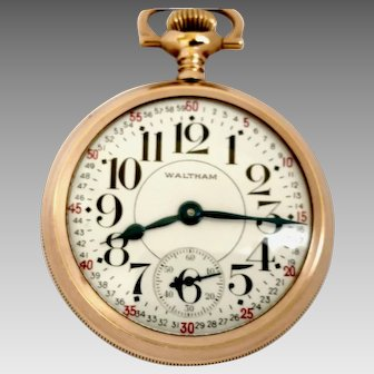 Special Waltham Pocket Watch Dial P.S. Bartlett of 16s,17J ,Circa 1928 (WAT10232)