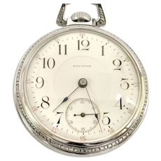 Antique Waltham P.S. Bartlett Pocket Watch size 18s, 17 jewel, Great Quality Circa 1901 (WAT10234) Serviced, Running and Accurate